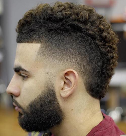 Short Curly Mohawk