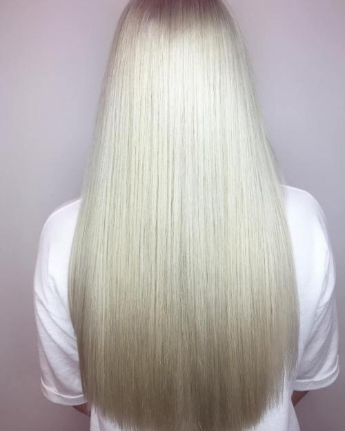 Long Silver Hair