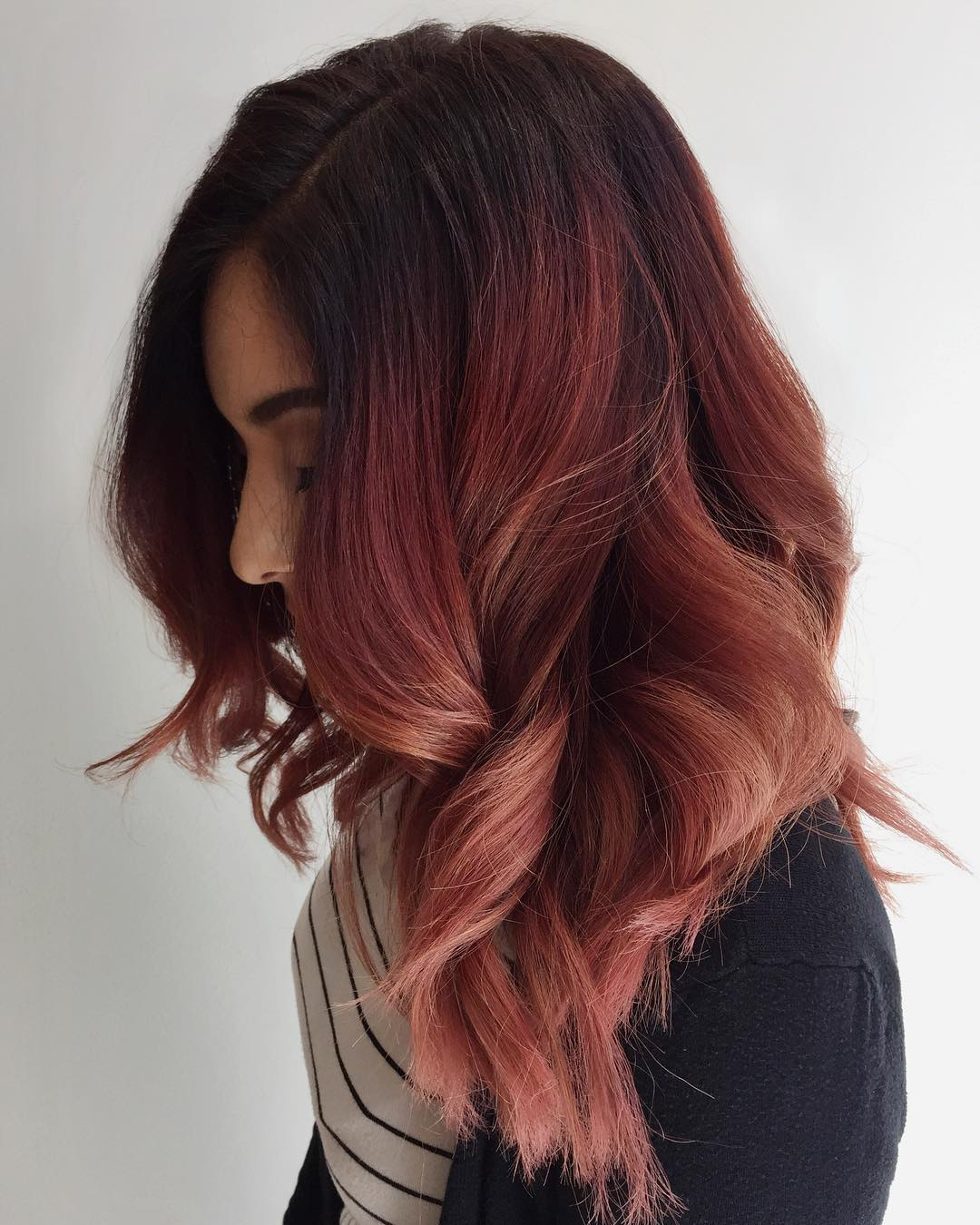 20 Gorgeous Examples of Rose Gold Balayage