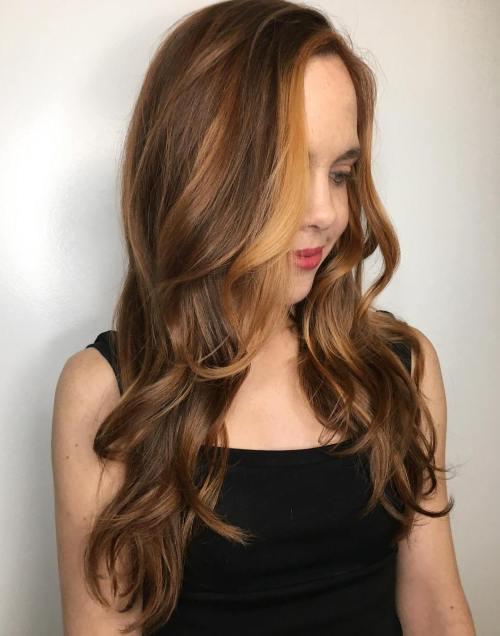 Auburn Balayage Hair