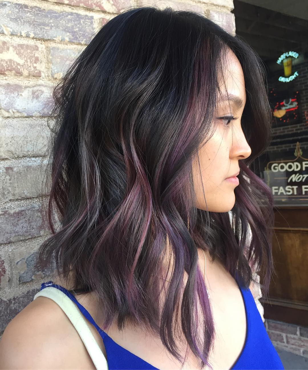 Highlights pictures hair Asian