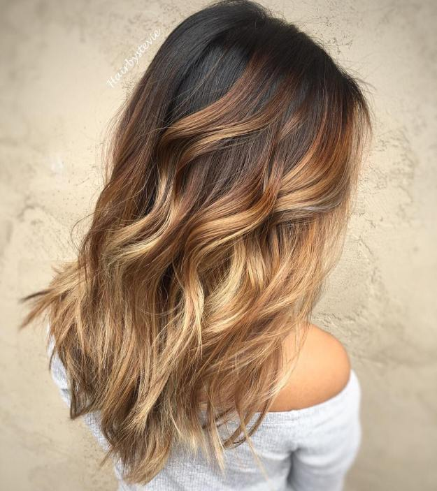 Caramel Blonde Balayage For Brunettes