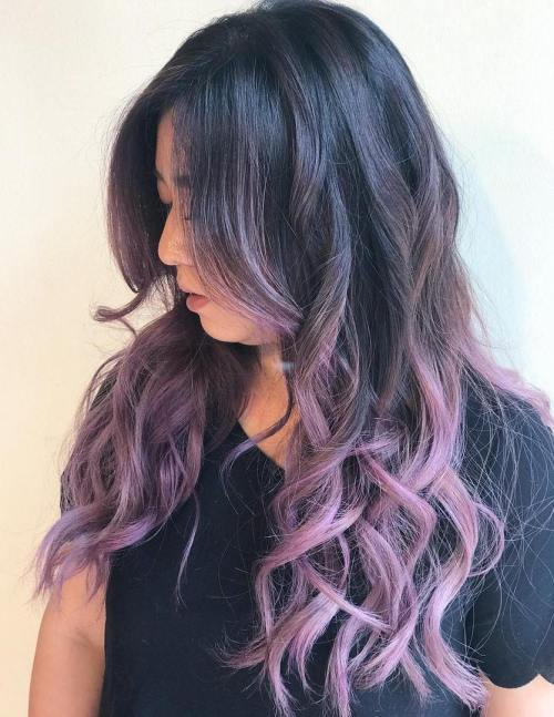 Black To Pastel Purple Ombre