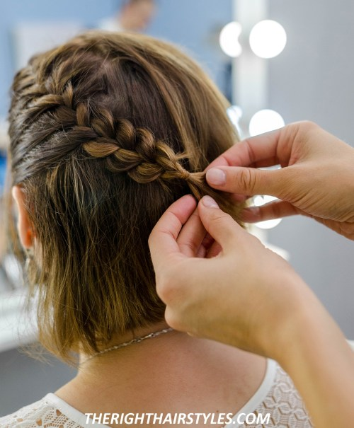 How to Do a Crown Braid: Step 3