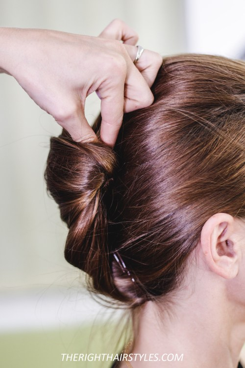 How to Do a French Twist: Step 5