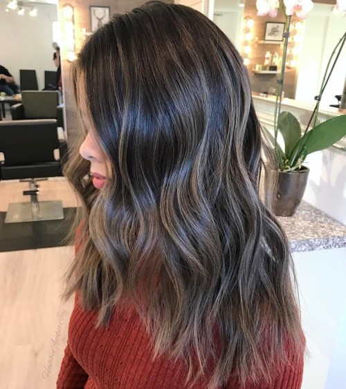 Long Hair With Ash Gray Coloring
