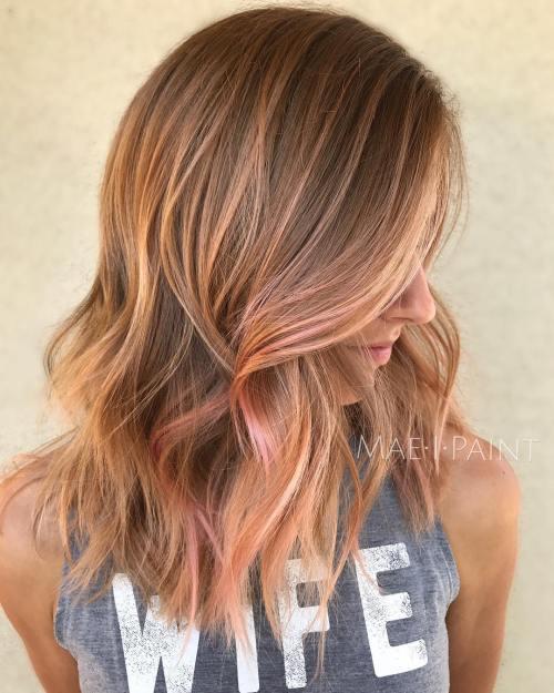 Rose Gold Balayege For Blonde Hair