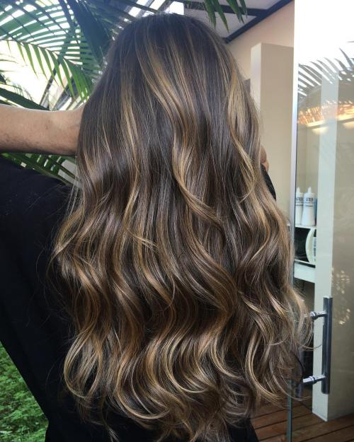 Natural Looking Blonde Highlights On Dark Hair