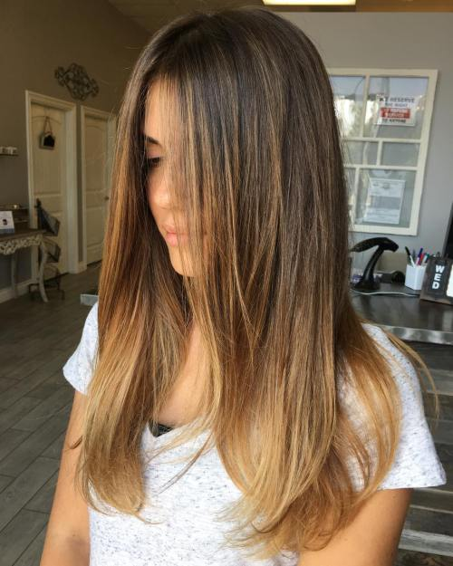 Straights Hair And Copper Coloring