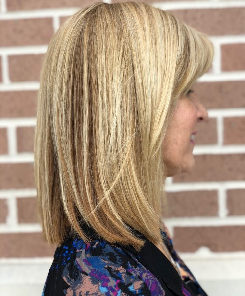 Straight Lob With Tiny Highlights