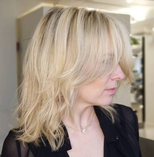 Tousled Beige Blonde Hairstyle