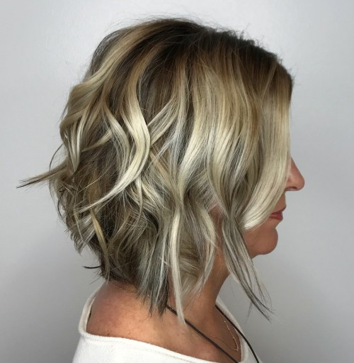 A Line Bob With Highlights