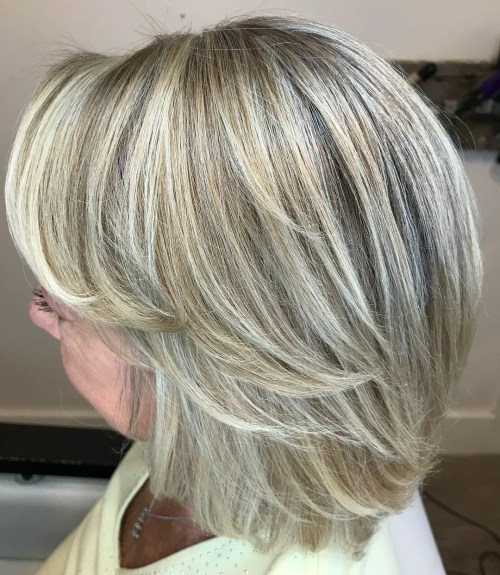 Layered Bob With Blonde Babylights