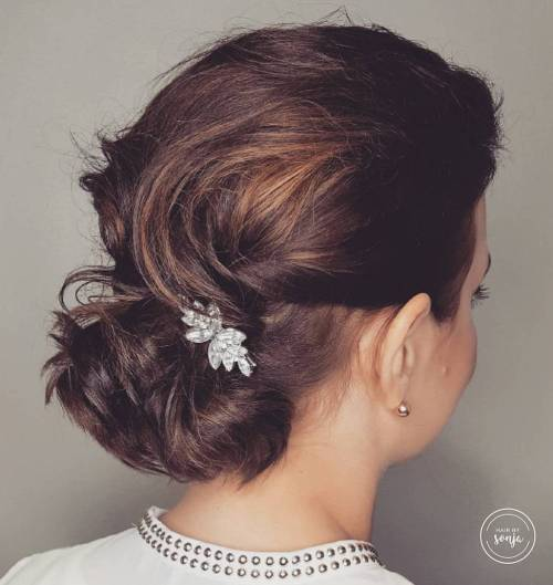 Low Bun With Small Hair Clip