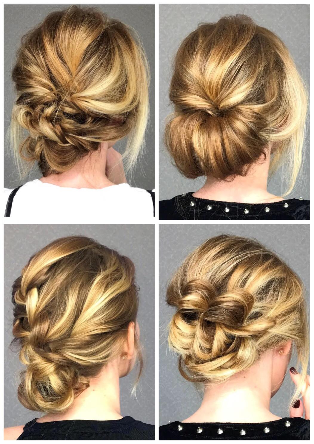 4 Stylish Bun Hairstyles In Easy Video Tutorials