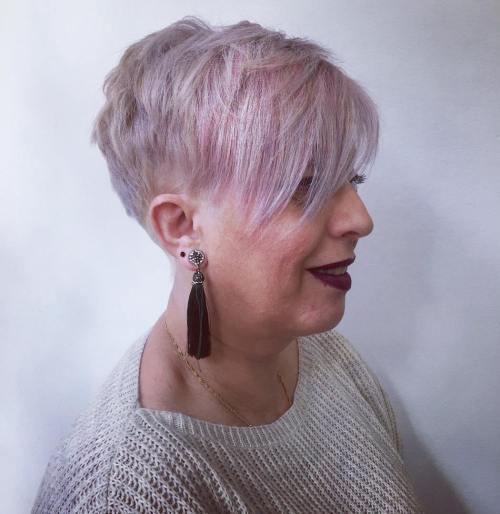 Pastel Lavender Undercut For Fine Hair