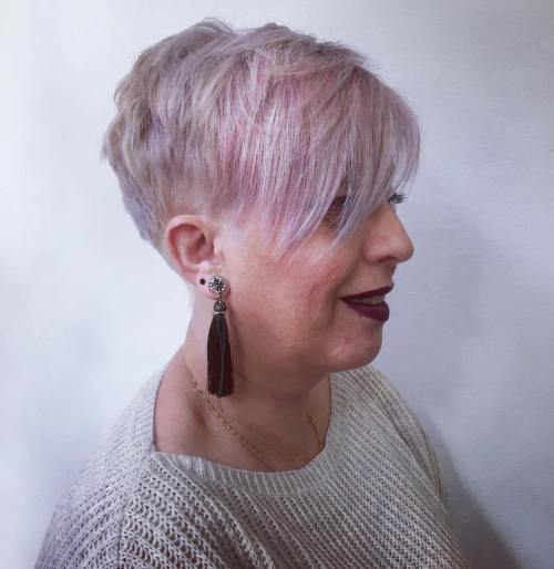 Pastel Lavender Undercut For Fine Hair