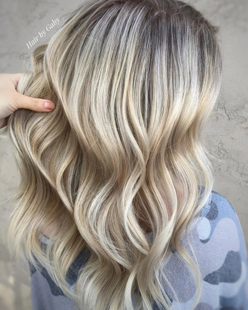 Platinum Hair With All Over Highlights