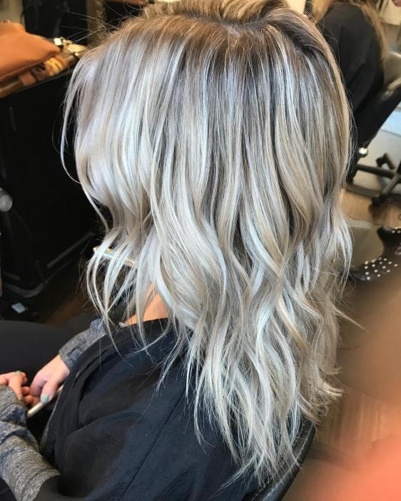 Arctic White Layered Hair