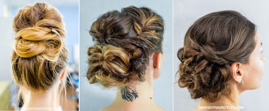Three Buns For Fine Hair