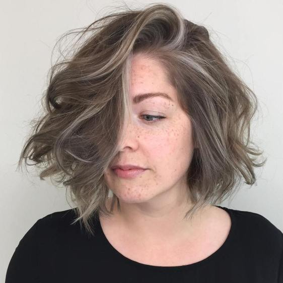 Dirty Blonde Shag With Silver Ribbons