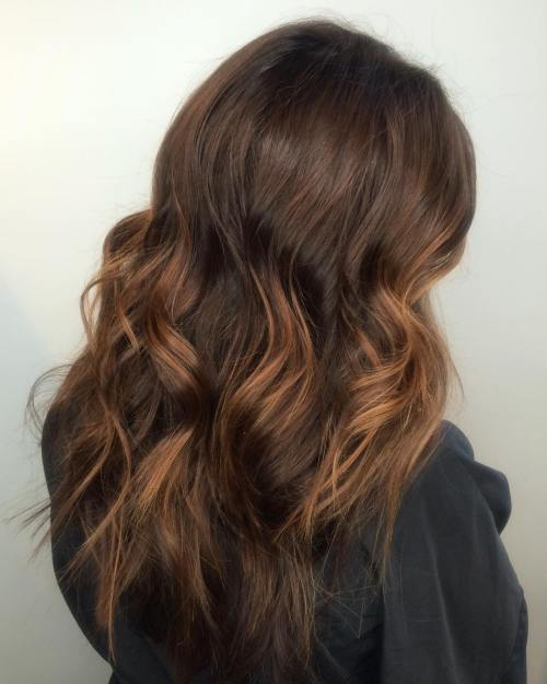Thick Chocolate Brown Hair With Highlights