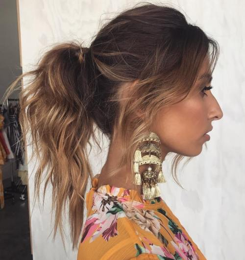 Ponytail with Wispy Bangs