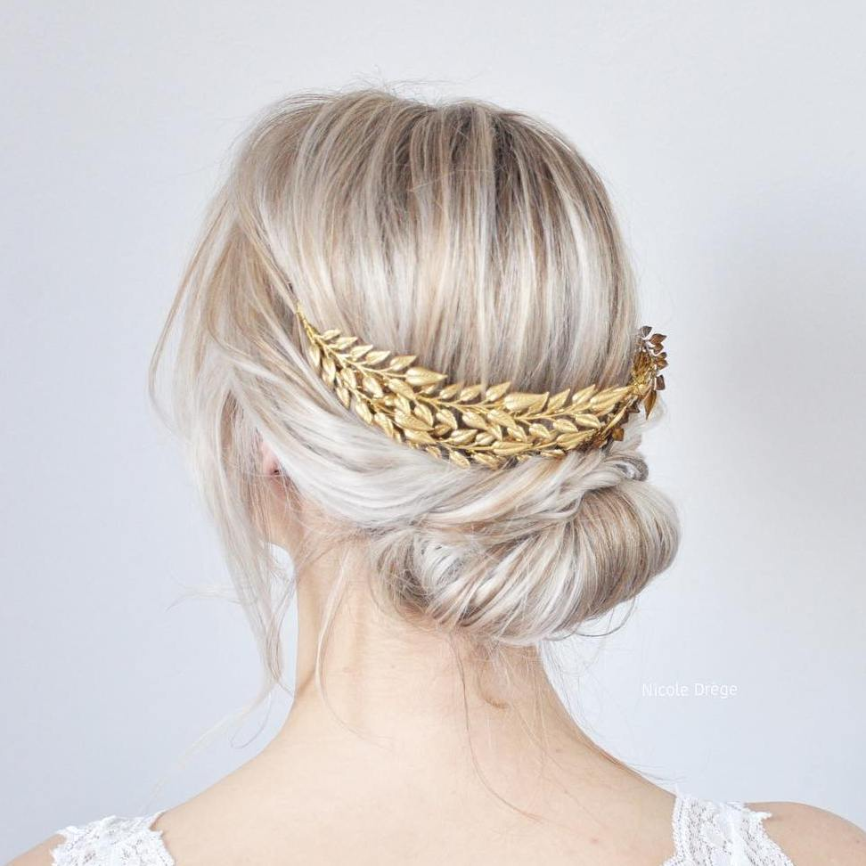 Simple And Cute Decorated Updo