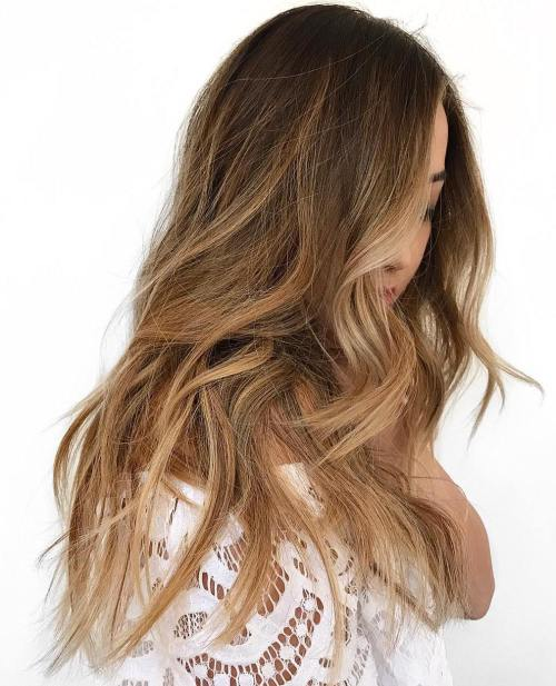 Sandy Golden Brunette Hair