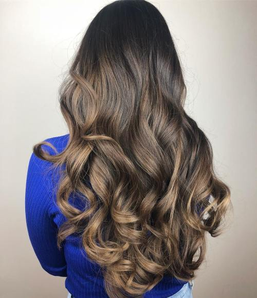 Big Bouncy Brunette Curls