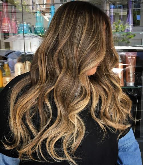 Blonde Balayage Brunette Hairstyle