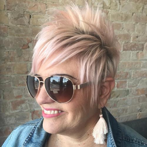 Short Spiky Haircut With Sunglasses
