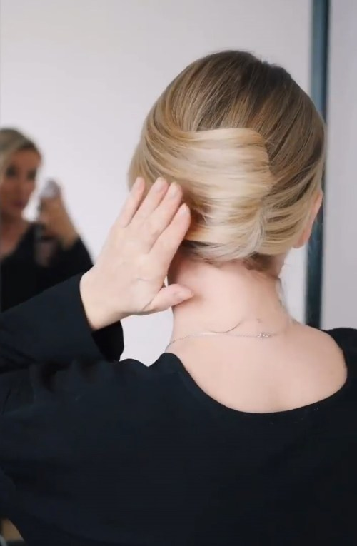 French Twist with Shoulder Length Hair