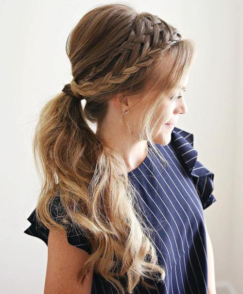Double-Braided Ponytail