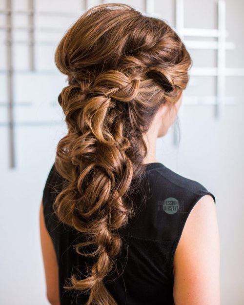 Romantic Half-Updo Hairstyle
