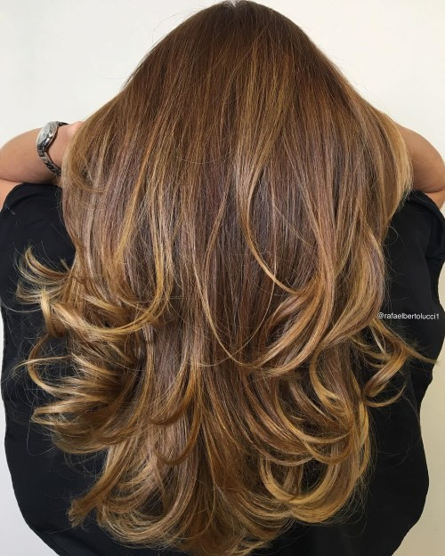 Golden Layered Tresses