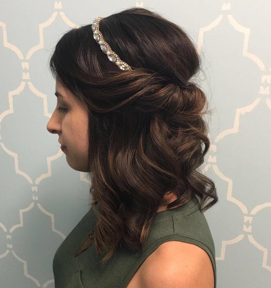 Curls And Soft Balayage For Medium Hair