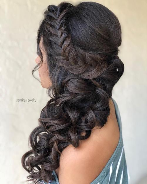 Elegant Braided Side Curls