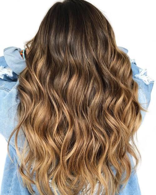 Golden Caramel Highlights for Brown Hair