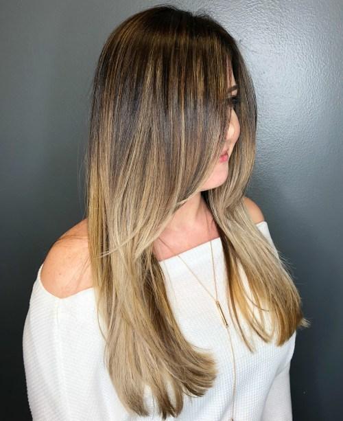 Honey Blonde Balayage For Brown Hair