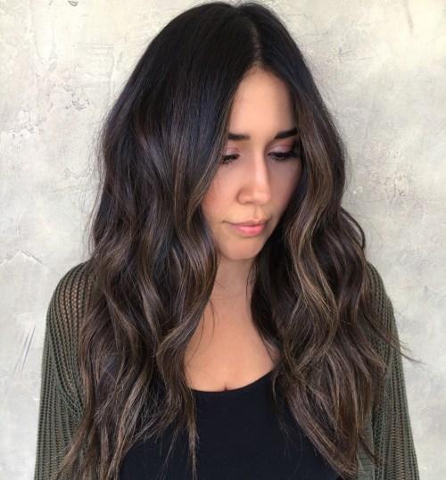 stunning long dark brown hair