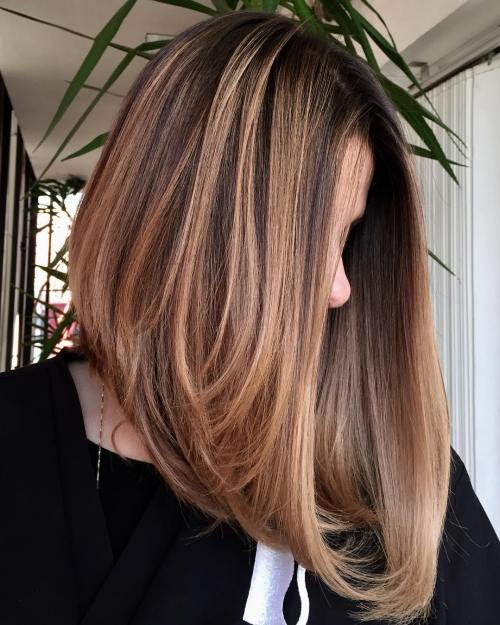 Caramel Brown Lob