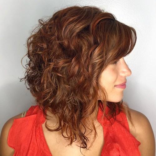 Curly Reddish Brown Lob
