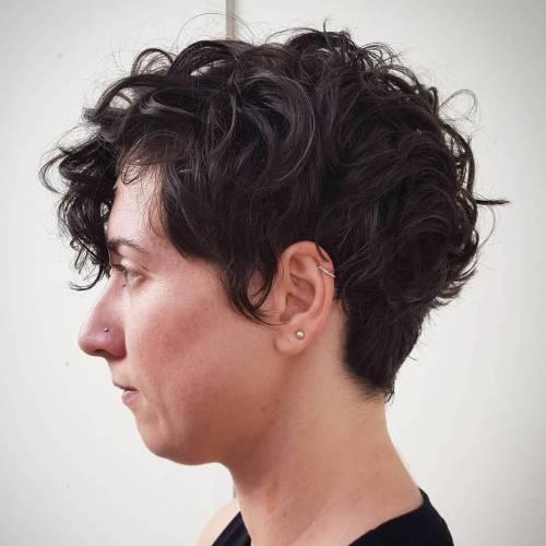 Retro Curly Fringe Cut