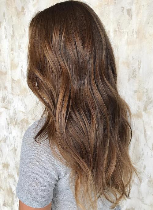 Brown Hair with Golden Brown Highlights