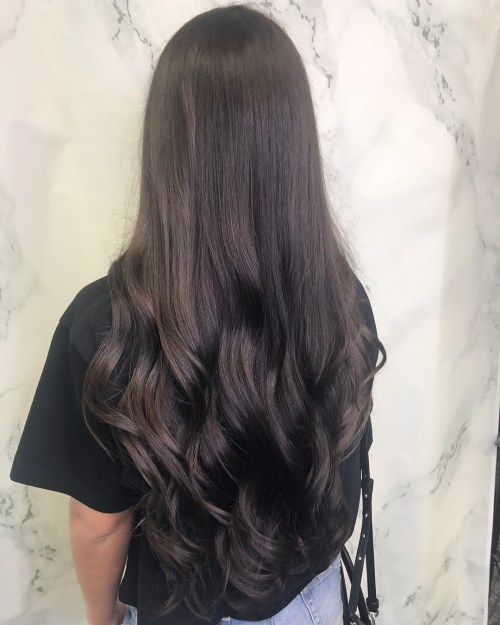 Shiny Brunette Hair with Glaze