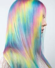 holographic hair trend and