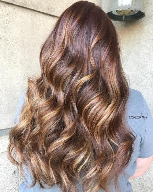 Reddish Brown Hair with Golden Brown Highlights
