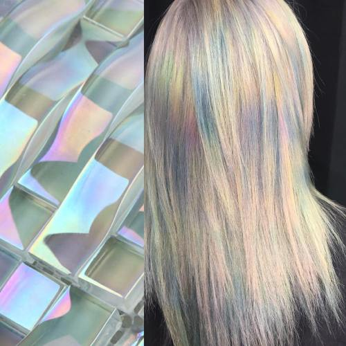 Straight Holographic Hair