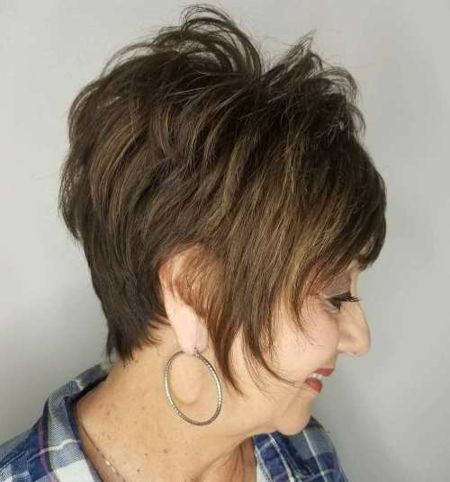 Feathered Tapered Pixie over 60